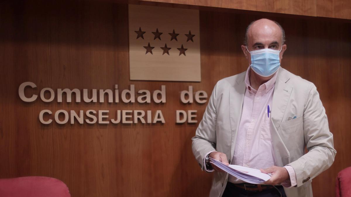 El viceconsejero de Salud Pública y Plan COVID-19 en funciones de la Comunidad de Madrid, Antonio Zapatero.