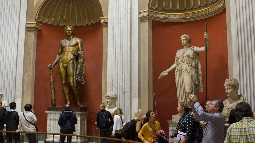 Esculturas en el Museo Pío Clementino.