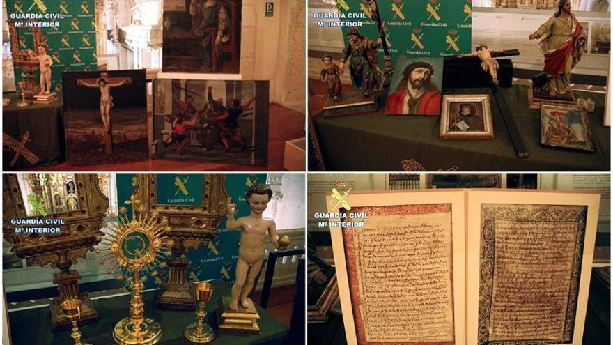 La Guardia Civil recupera 19 obras, entre ellas dos cartas de Santa Teresa