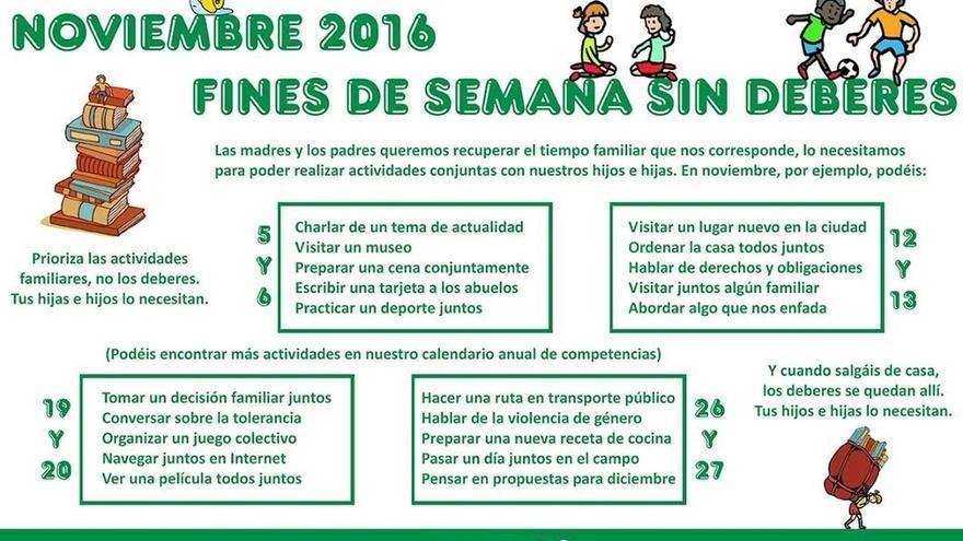 """FAPA Cantabria ve los deberes """"una interferencia en la vida familiar"""", un """"punto de desigualdad"""" y un """"paso al fracaso"""""""