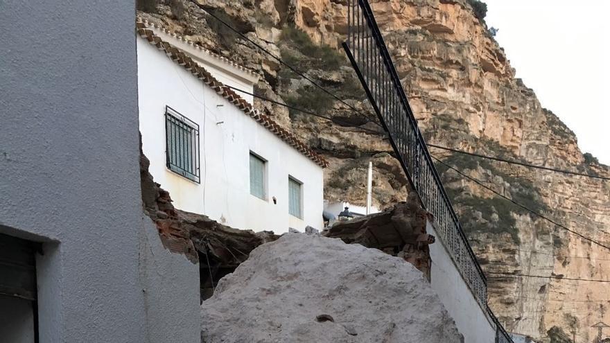 Desprendimientos en Alcalá del Júcar (Albacete)