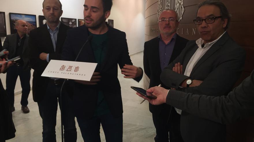 Alexís Marí (C´s), Fran Ferri (Compromís), Antonio Montiel (Podemos) y Manuel Mata (PSOE).