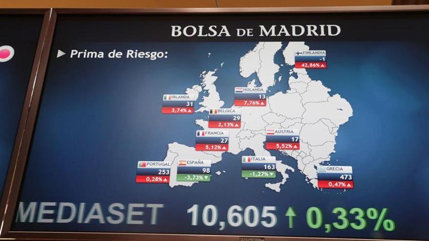 La prima de riesgo baja a 94 puntos, tranquilizada por el BCE