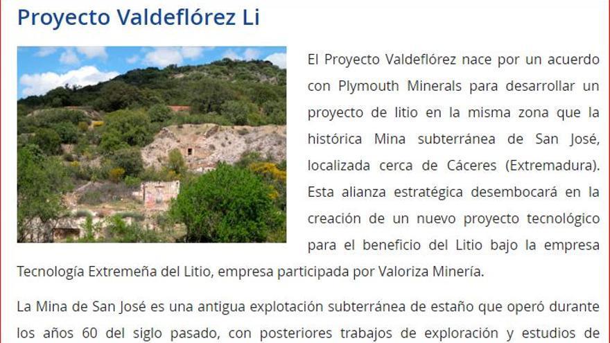 La empresa promotora de la mina de litio subraya que crearía empleo y riqueza