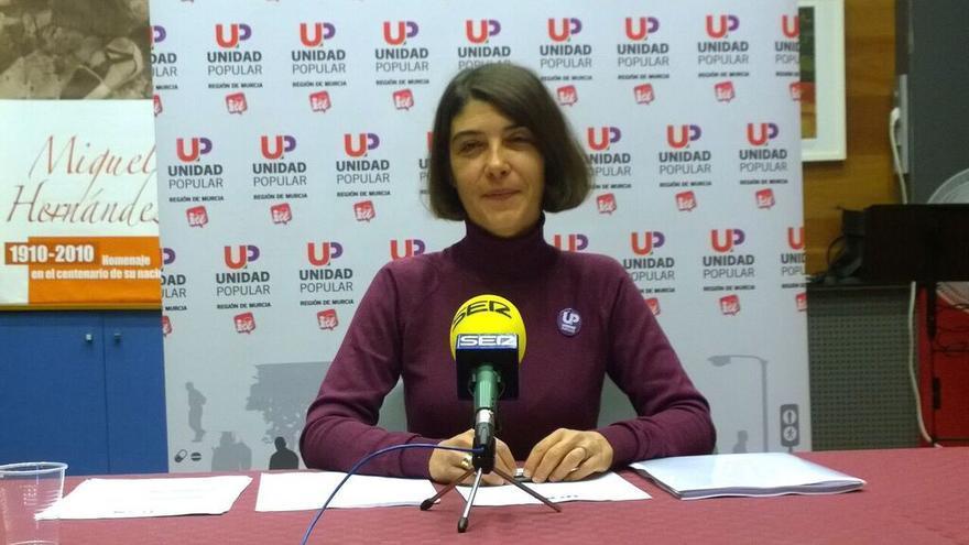 Magdalena Martínez Bode, número 1 de Unidad Popular-IU Verdes al Congreso por la Región de Murcia