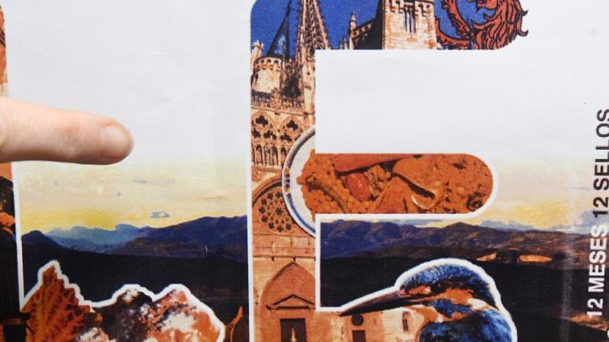 Sello dedicado a León con la Catedral de Burgos