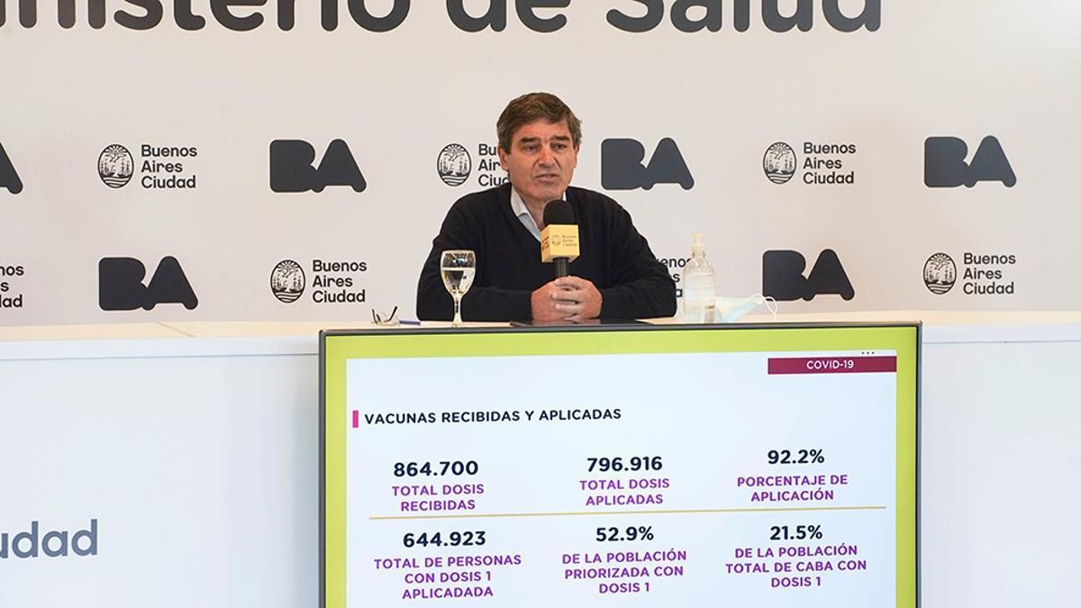 Quirós reveló el resultado de la combinación de vacunas en la Ciudad