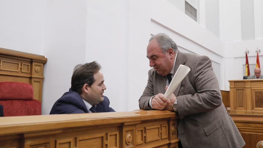 Vicente Tirado y Paco Núñez en las Cortes