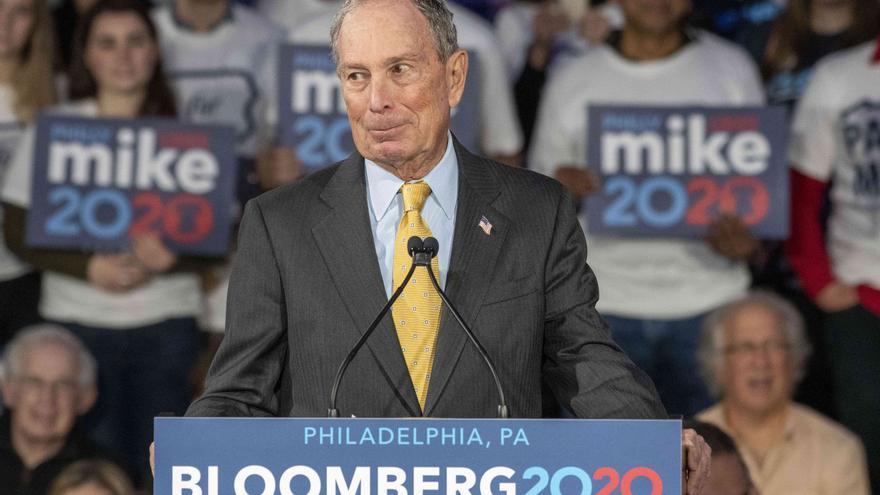 Mike Bloomberg haciendo campaña en Pensilvania