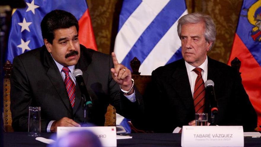 Maduro dice que acordó con Vázquez una vía para solucionar el conflicto en Mercosur