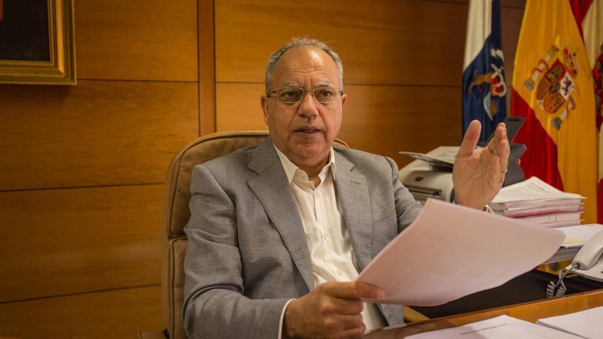 El presidente del Cabildo Insular de La Gomera Casimiro Curbelo