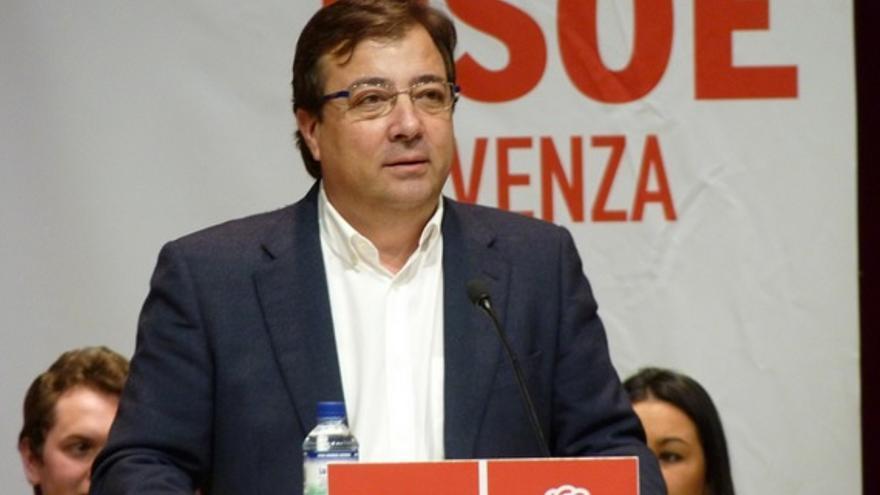 Vara, en su intervención en el acto de Olivenza / PSOE