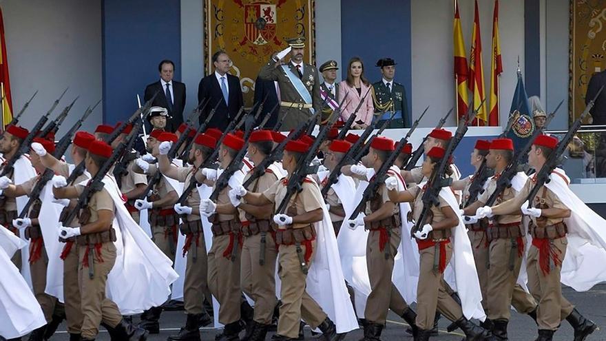El Rey Felipe VI, en un desfile militar