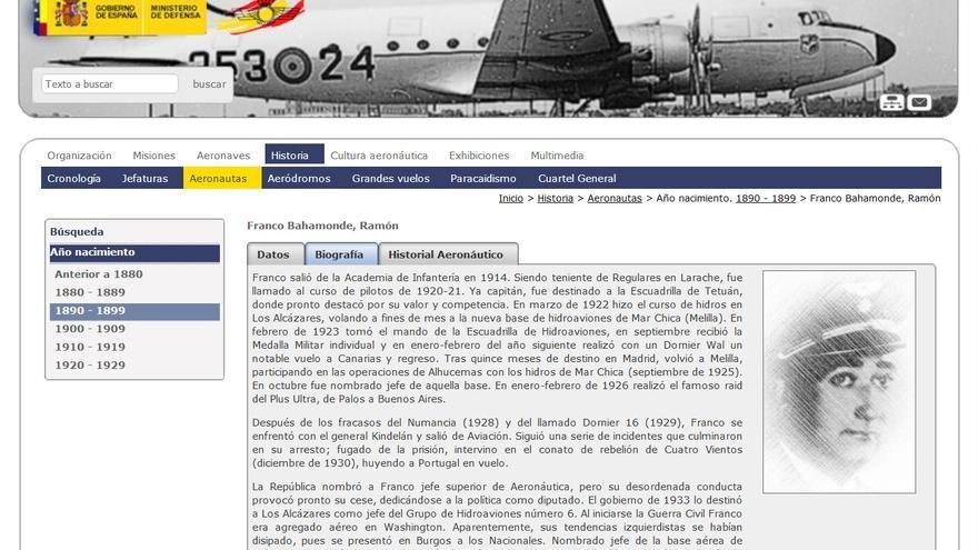 Biografía del hermano del dictador Franco en el Ejército del Aire.