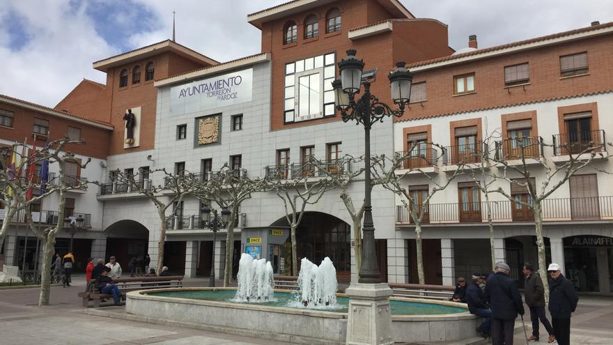 La Plaza Mayor, donde está la sede del Ayuntamiento de Torrejón de Ardoz.