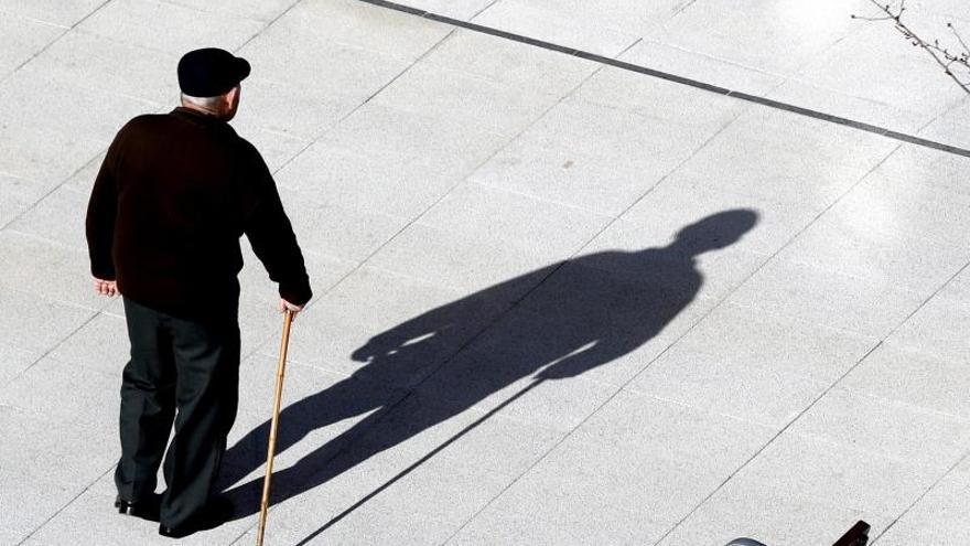 Una persona mayor, en Bilbao