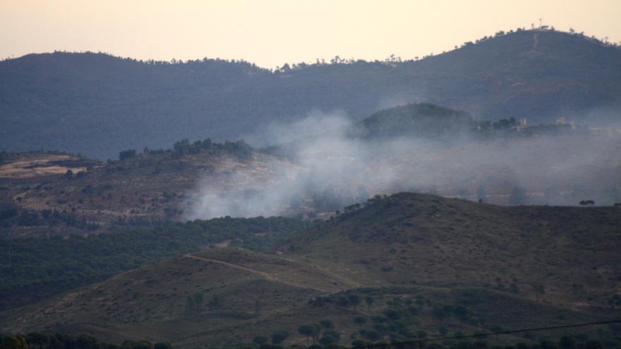 Incendio en el vertedero tóxico de Nerva