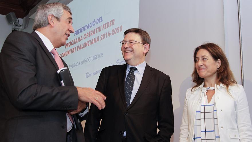 El president de la Generalitat, Ximo Puig, ha presentado los fondos Feder