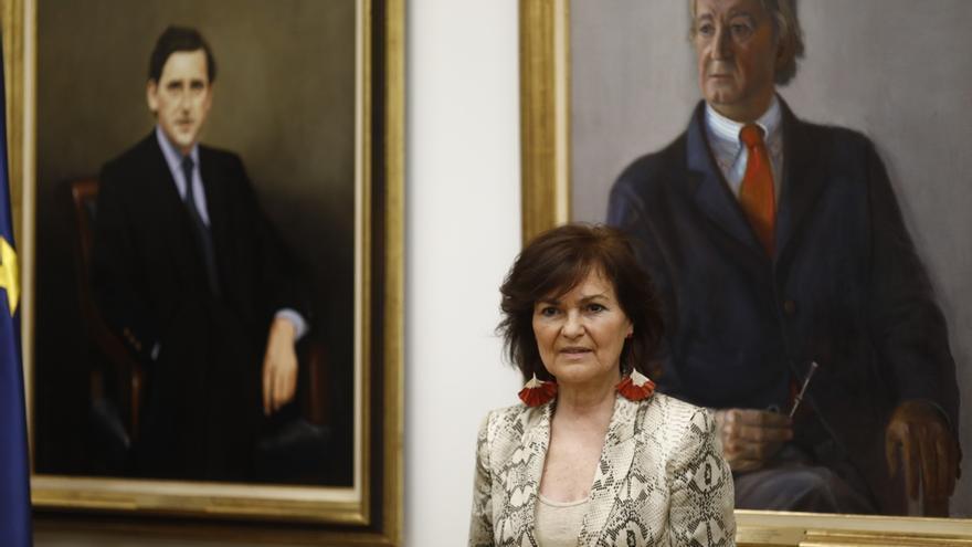 Carmen Calvo confirma contactos con la Iglesia y familia de Franco para retirar sus restos del Valle de los Caídos