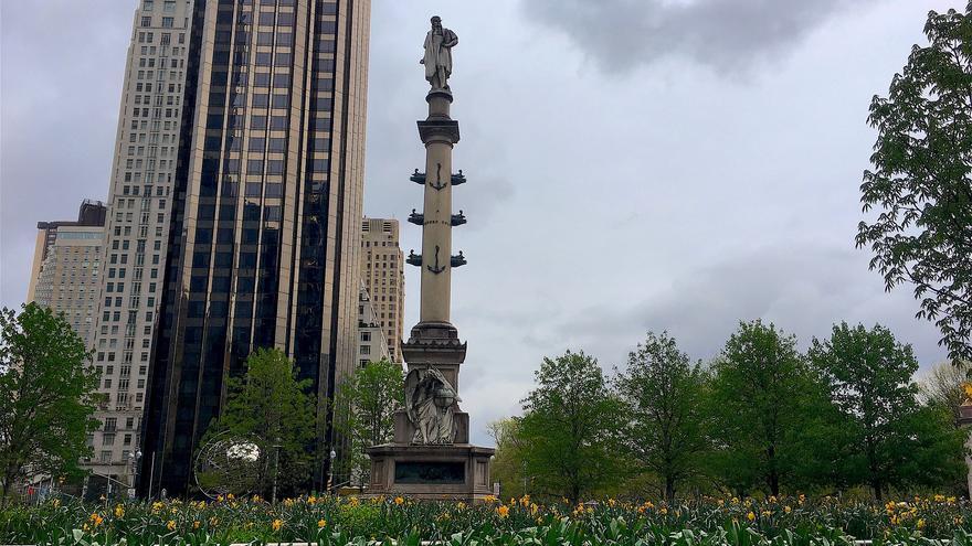 Estatua de Cristóbal Colón en Nueva York