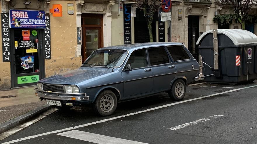 Un vehículo de 1978, este martes en el centro de Vitoria