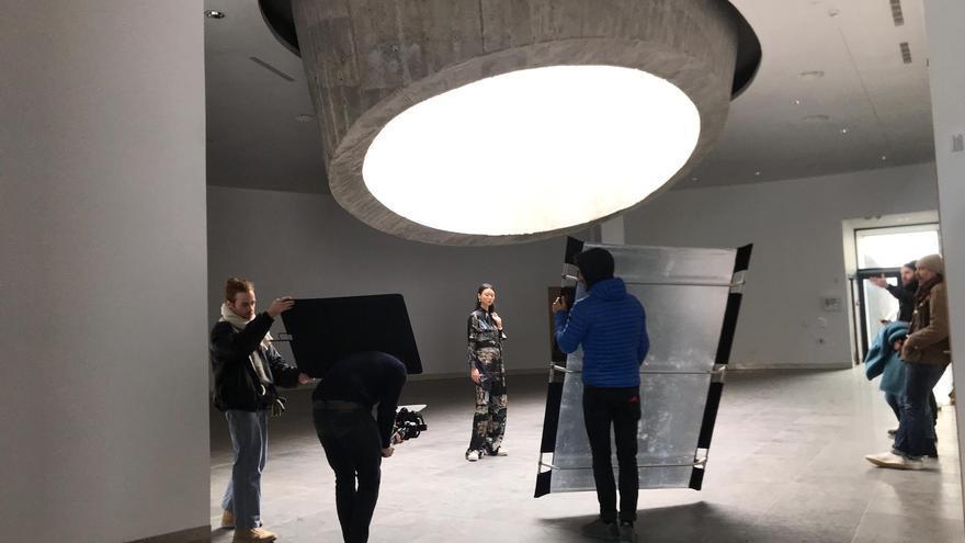 Grabación de la campaña marca francesa Chloe  en las instalaciones del futuro Centro de Visitantes del Roque de Los Muchachos.