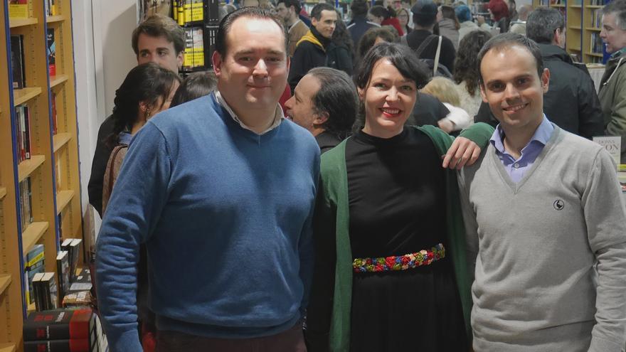 Rafael Rodríguez, María Eugenia Rodríguez y Miguel Angel Neva, libreros de Botica de Lectores.