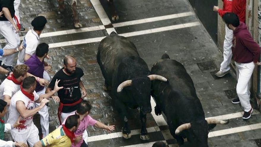 Seis traslados al hospital tras el encierro, uno menos grave por asta de toro