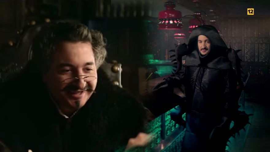 El actor Josep María Riera, en los dos anuncios