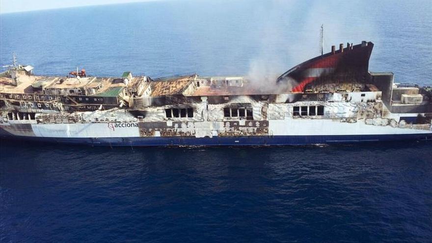 Mañana comienza el remolque del ferry Sorrento hacia el puerto de Sagunto