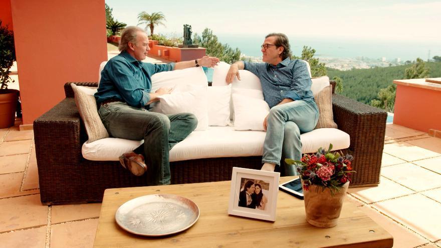 Bertín Osborne y Pepe Navarro en Mi casa es la tuya de Telecinco