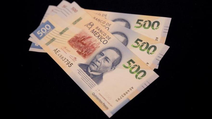 Vista del nuevo billete de 500 pesos que fue presentado el lunes 27 de agosto de 2018, en Ciudad de México (México).