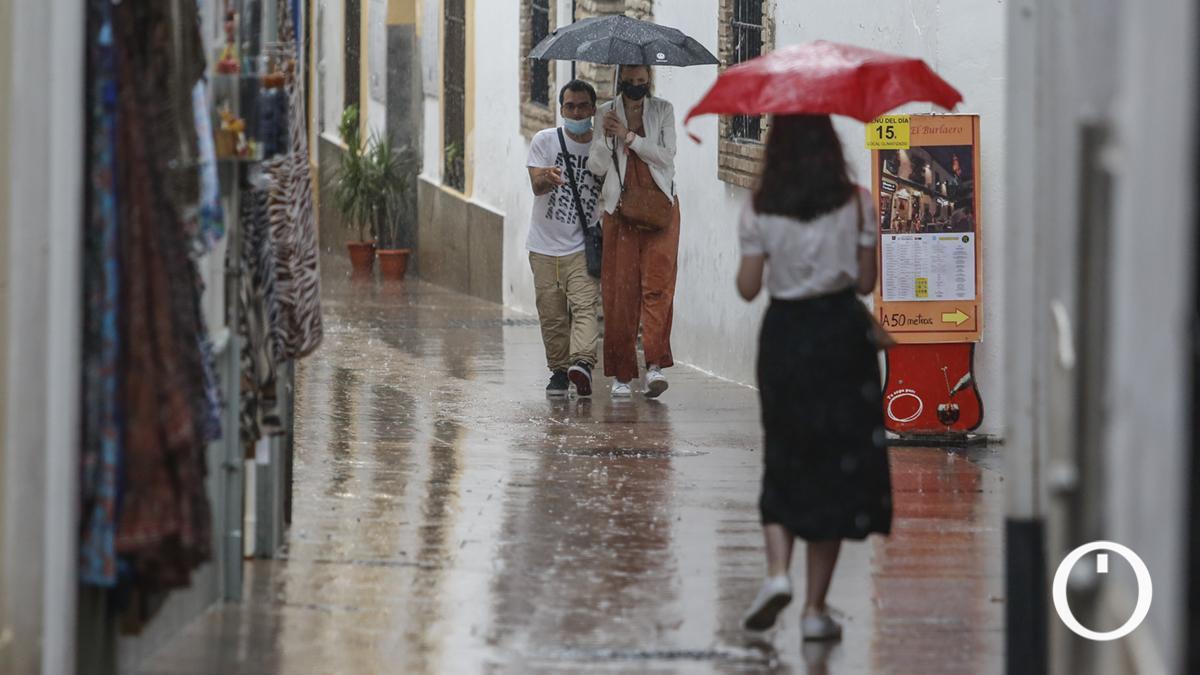 Lluvia caída en Córdoba el pasado 14 de septiembre