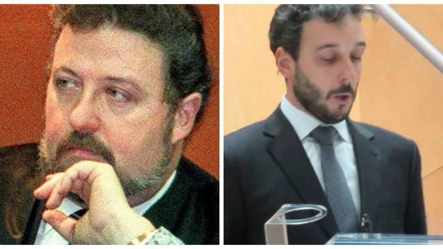 El juez Lidón (a la izquierda) y su hijo