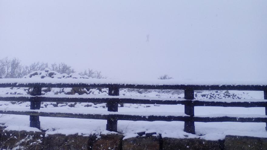La nieve obliga a usar cadenas en tres puertos de Cantabria