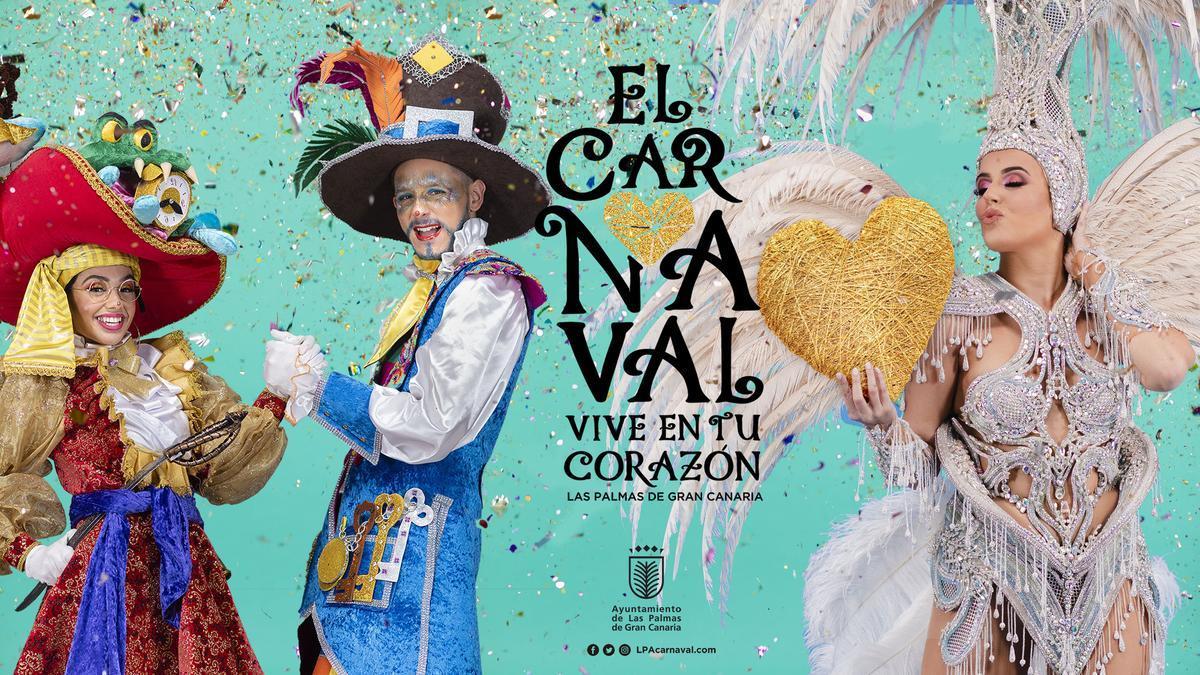 'El Carnaval vive en tu corazón', lema elegido para las fiestas este año en Las Palmas de Gran Canaria