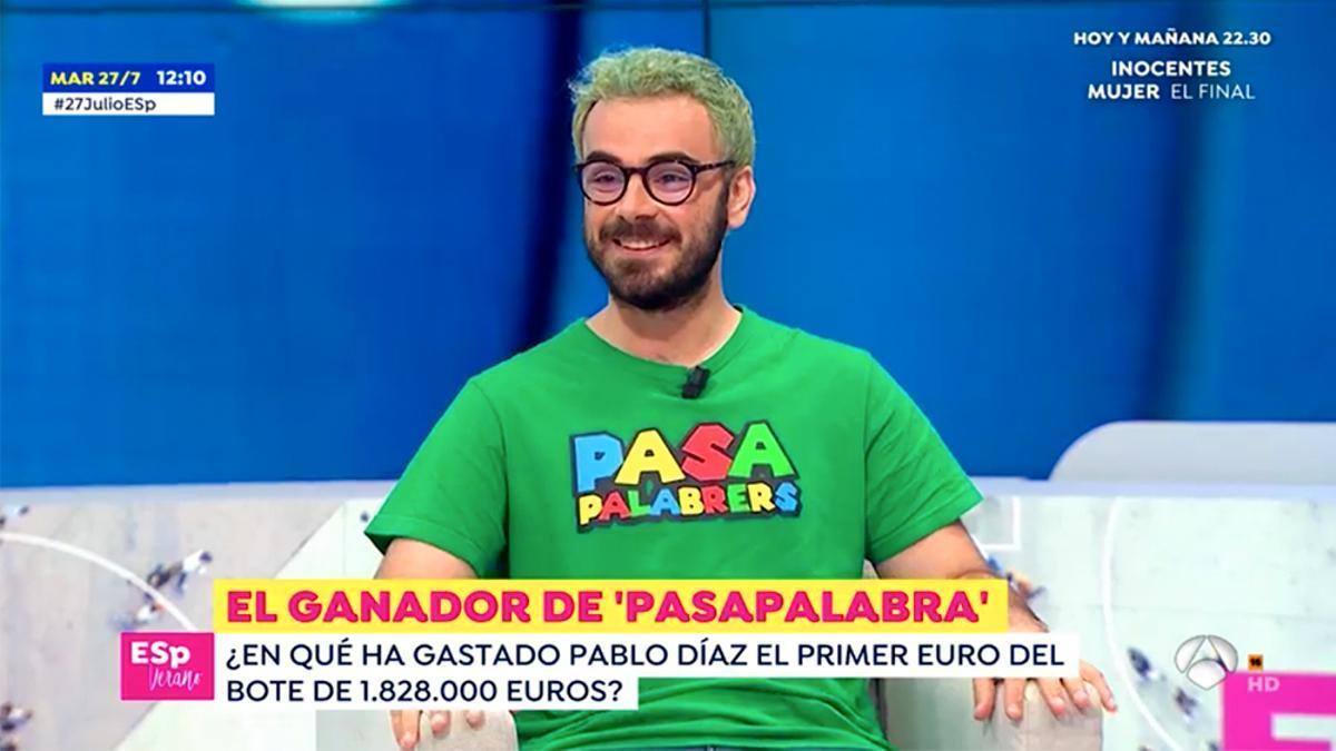 Pablo Díaz en su visita a 'Espejo Público'