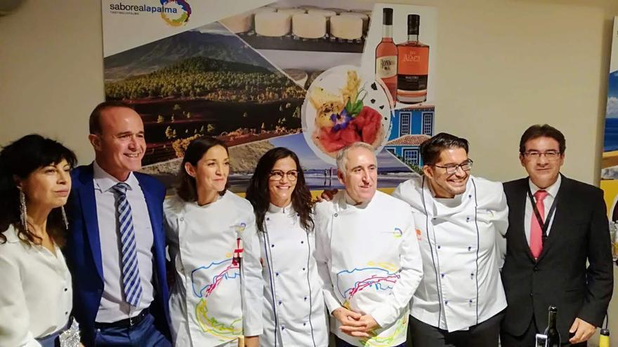 Delegación palmera en Madrid.