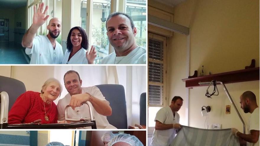 Alumnos de Cuidados Auxiliares de Enfermería en Italia.