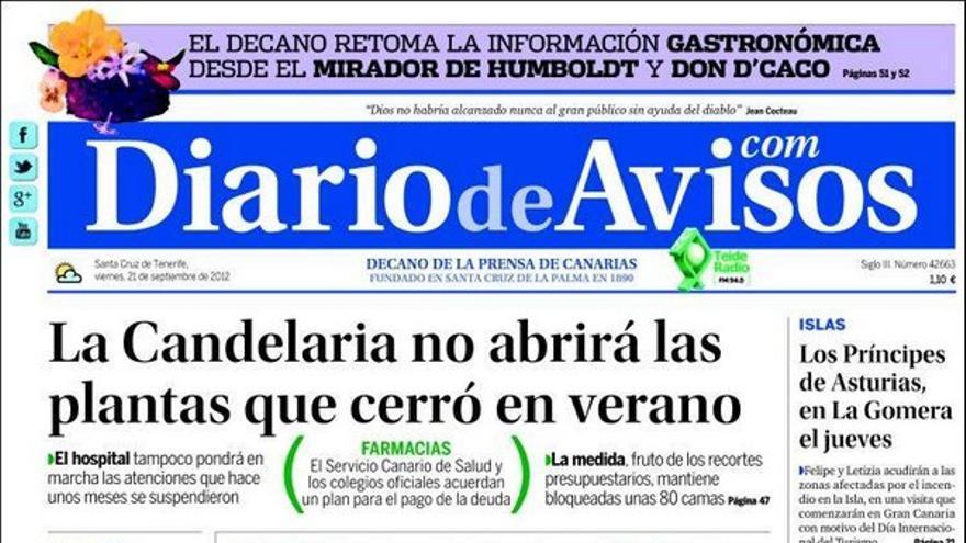 De las portadas del día (21/09/2012) #3