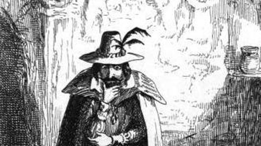 Guy Fawkes, visto por la corriente romántica del siglo XIX
