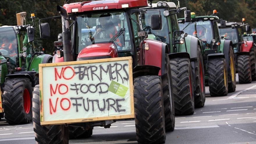 Una protesta de agricultores en Alemania