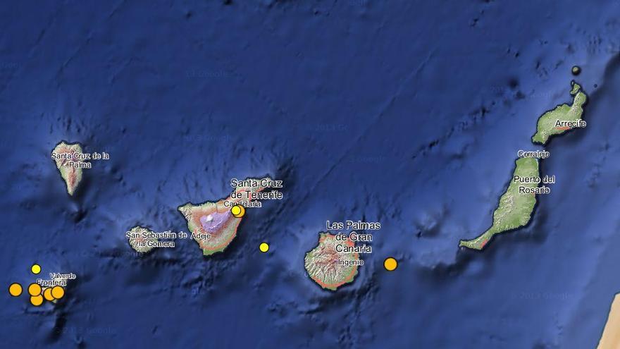 Registro de terremotos en Canarias (IGN).