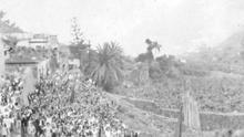 Manifestación por la II República en Hermigua