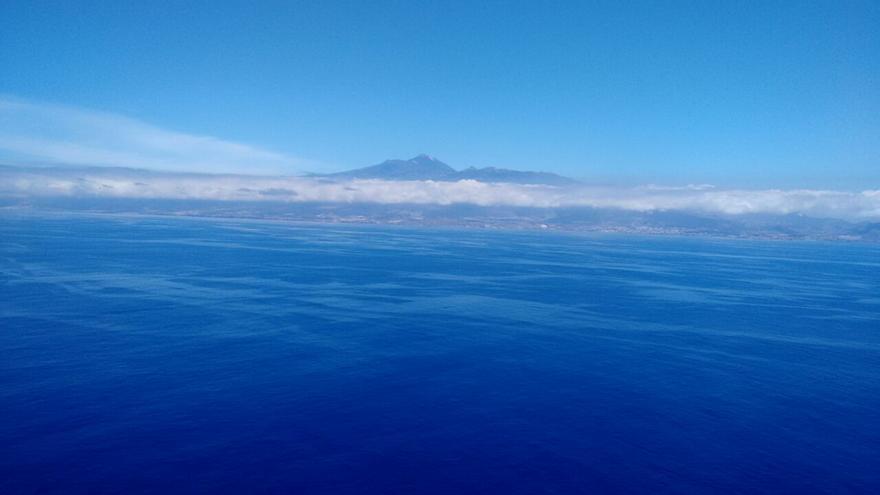 Manchas de fuel del Oleg Naydenov llegando a las costas de Tenerife. Imagen: WWF España