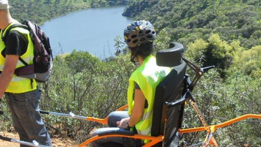 Joelette Minusválido Discapacitado Extremadura