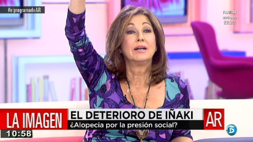 Ana Rosa Quintana en pleno comunicado oficial