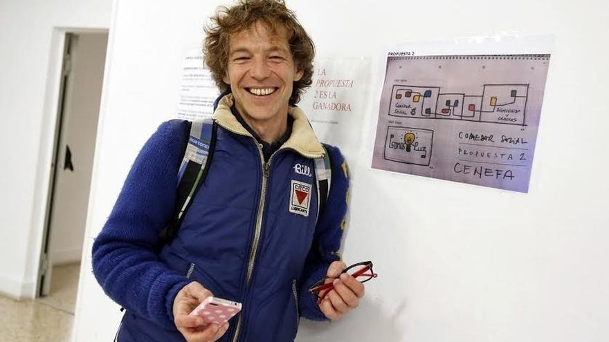 El comedor social de Pamplona cambiará su imagen con un mural diseñado por el pamplonés Mike Belindo