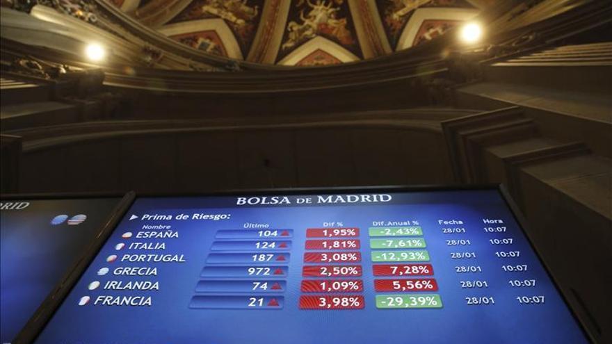 La prima de riesgo de España cae a 125 puntos básicos en la apertura