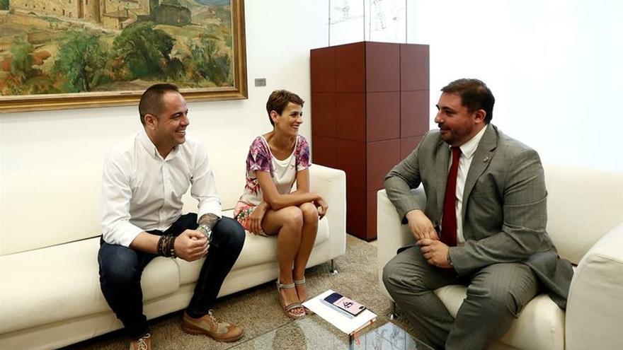 """Geroa Bai, Podemos e I-E ven avances """"importantes"""" para el gobierno navarro"""